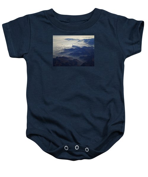Baby Onesie featuring the photograph Flying Over The Alps In Europe by Colette V Hera  Guggenheim