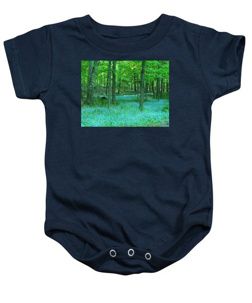 Forget-me-nots In Peninsula State Park Baby Onesie