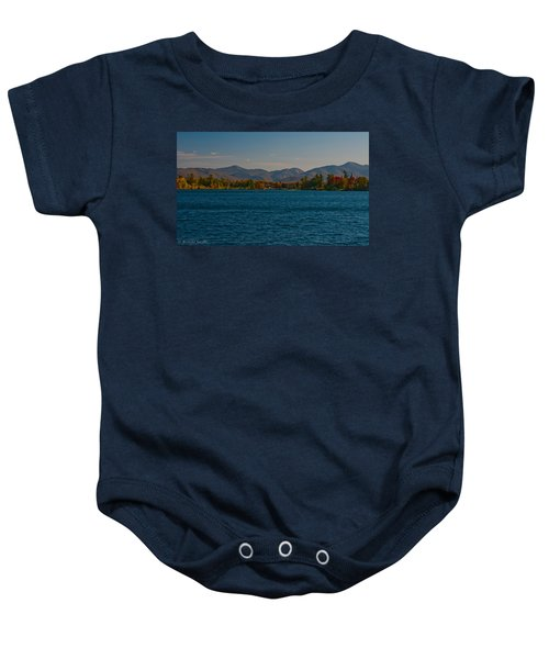 Lake Placid And The Adirondack Mountain Range Baby Onesie
