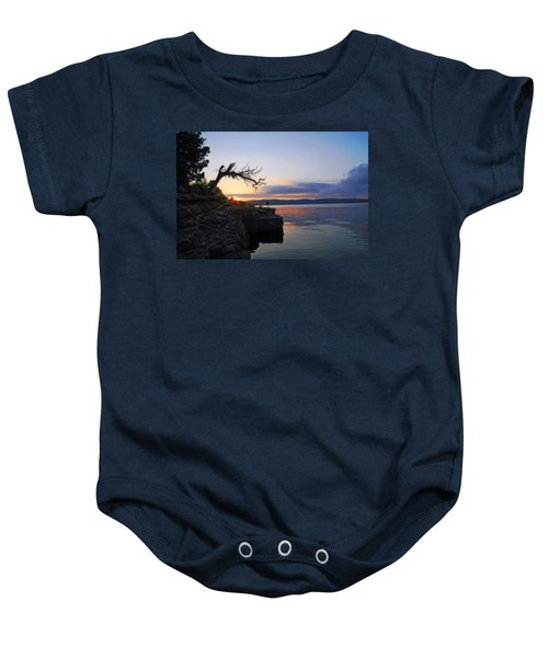 Sunrise Over Table Rock Lake Baby Onesie