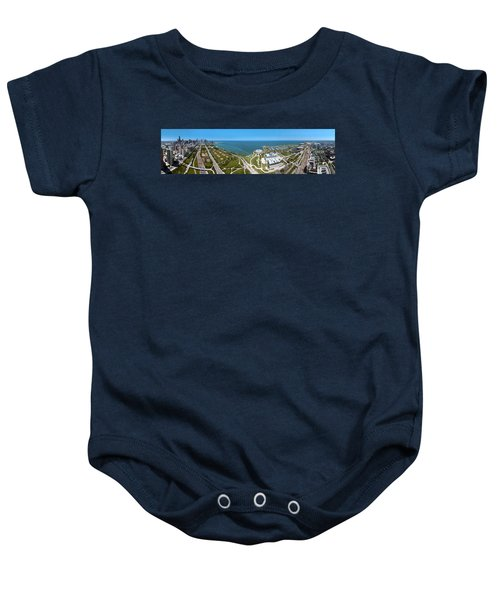 180 Degree View Of A City, Lake Baby Onesie by Panoramic Images