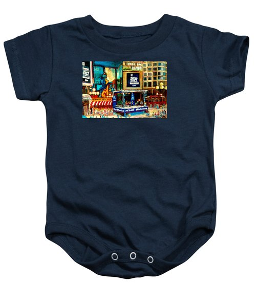 Montreal International Jazz Festival Baby Onesie