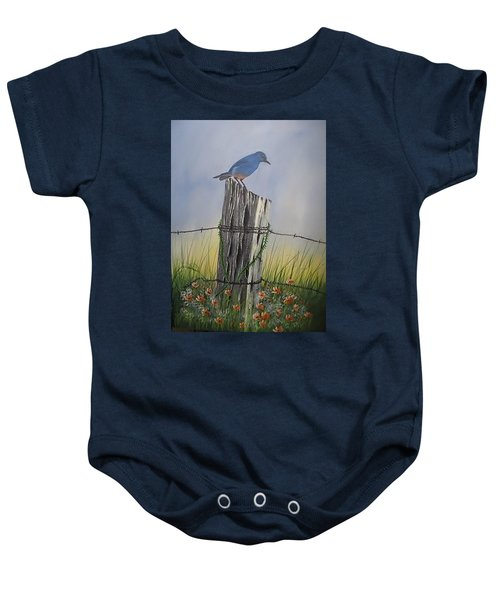 Mountain Bluebird Baby Onesie