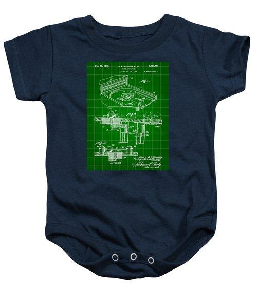 Pinball Machine Patent 1939 - Green Baby Onesie by Stephen Younts