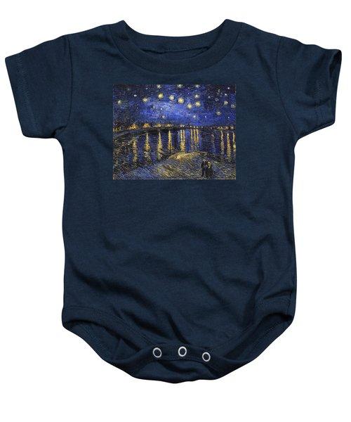 Starry Night Over The Rhone Baby Onesie