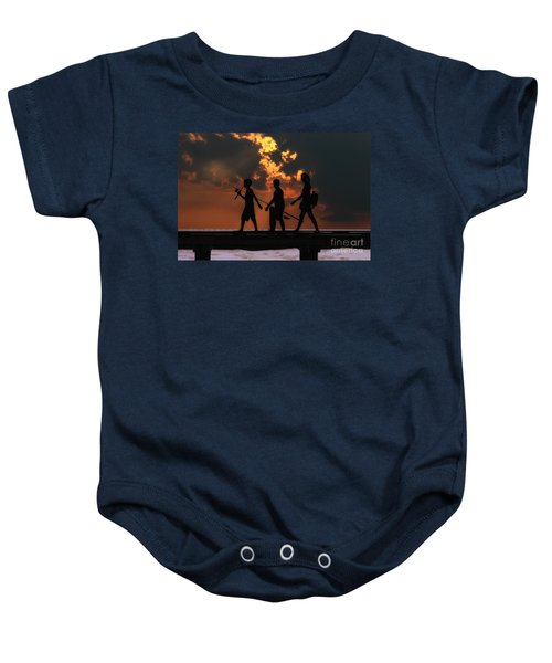 A Fishing We Will Go Baby Onesie
