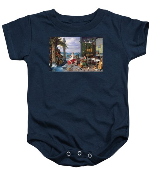 Allegory Of Music Oil On Canvas Baby Onesie