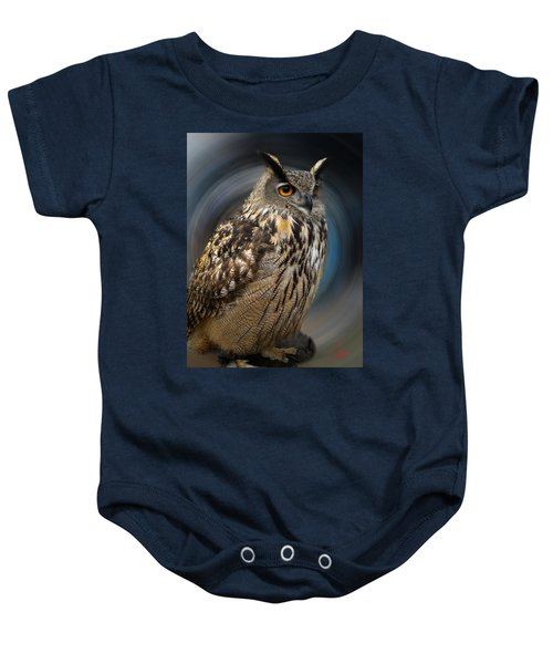 Baby Onesie featuring the photograph Almeria Wise Owl Living In Spain  by Colette V Hera  Guggenheim