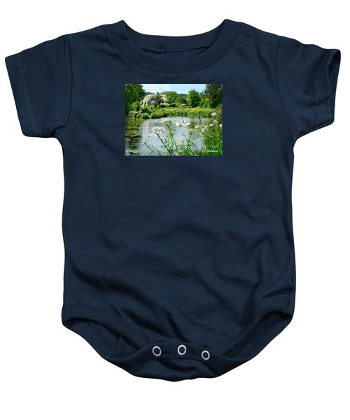 Baby Onesie featuring the photograph An English Cottage by Morag Bates