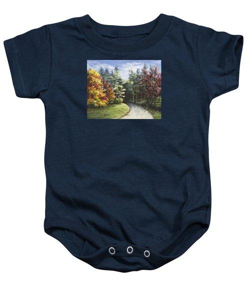 Autumn In The Arboretum Baby Onesie