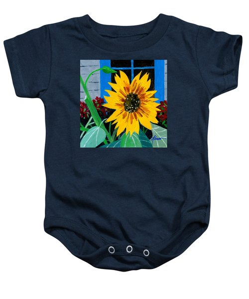 Backyard Flowers  Baby Onesie