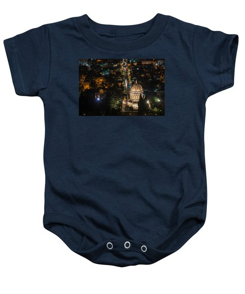 Baha'i Temple At Night Baby Onesie