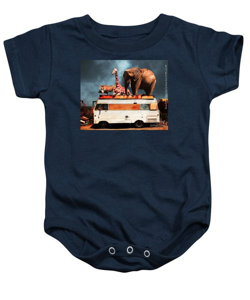 Barnum And Baileys Fabulous Road Trip Vacation Across The Usa Circa 2013 5d22705 With Text Baby Onesie
