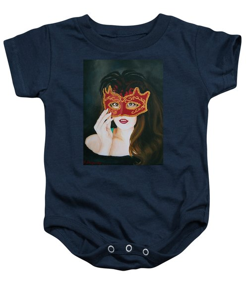 Beauty And The Mask Baby Onesie