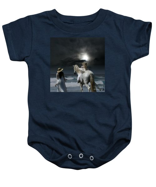 Beneath The Illusion In Colour Baby Onesie by Sharon Mau