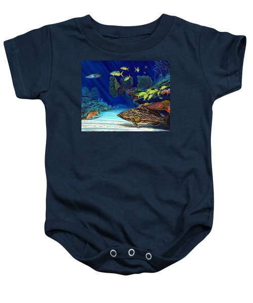 Black Grouper Reef Baby Onesie