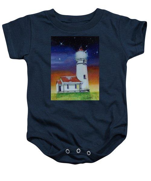 Blanco Lighthouse Baby Onesie