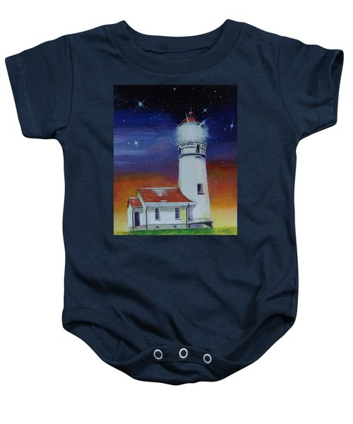 Blanco Lighthouse Baby Onesie