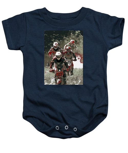 Blood Sweat And Dirt Baby Onesie