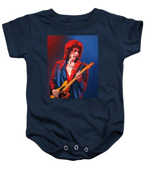 Bob Dylan Painting Baby Onesie by Paul Meijering
