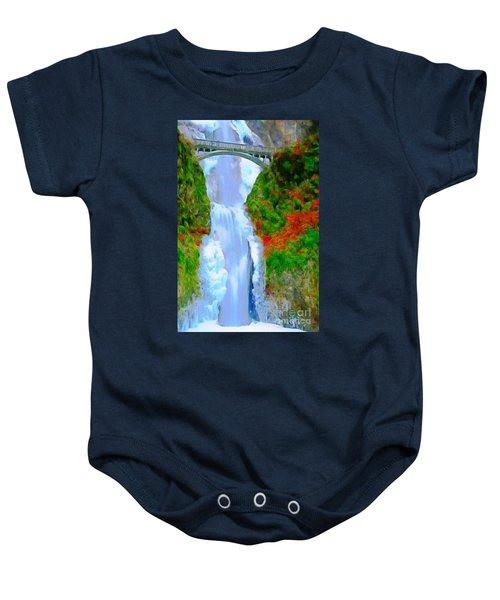 Bridge Over Beautiful Water Baby Onesie