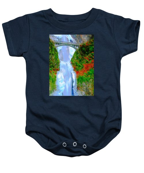 Bridge Over Beautiful Water Baby Onesie
