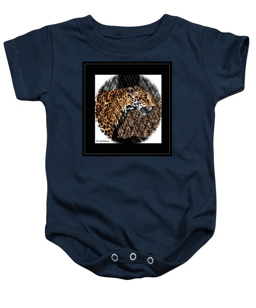 Caged Jaguar Baby Onesie