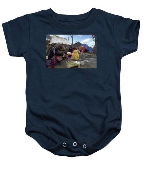 Camping In Iraq Baby Onesie