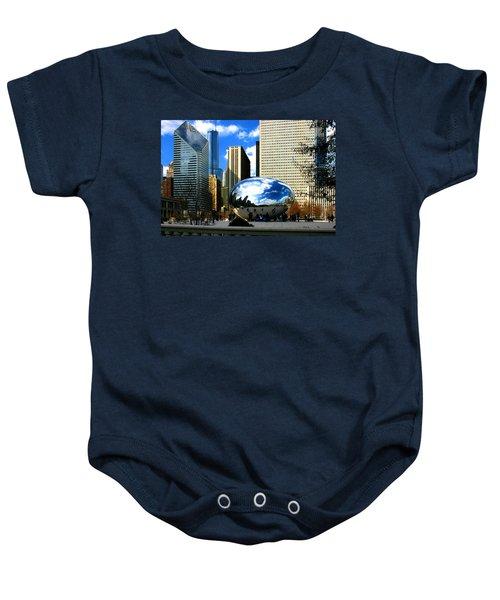 Chicago Skyline Bean Baby Onesie