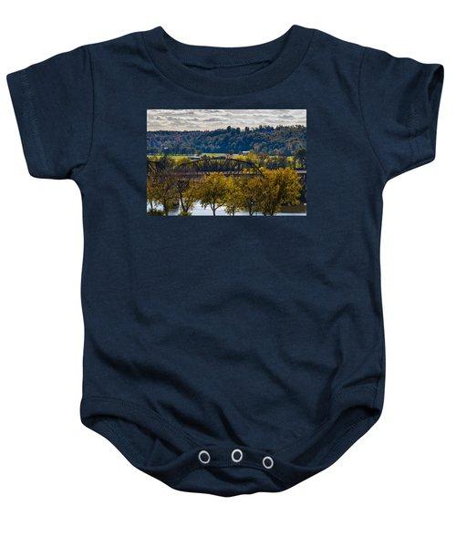 Clarksville Railroad Bridge Baby Onesie