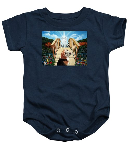 Come Walk With Me Over The Rainbow Bridge Baby Onesie