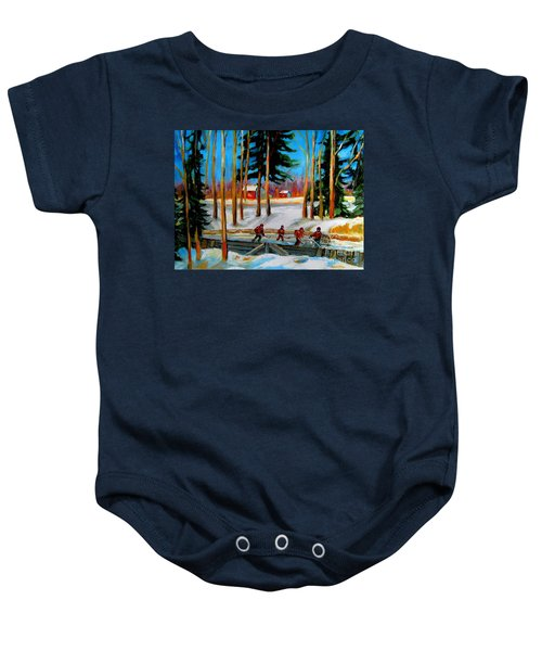 Country Hockey Rink Baby Onesie