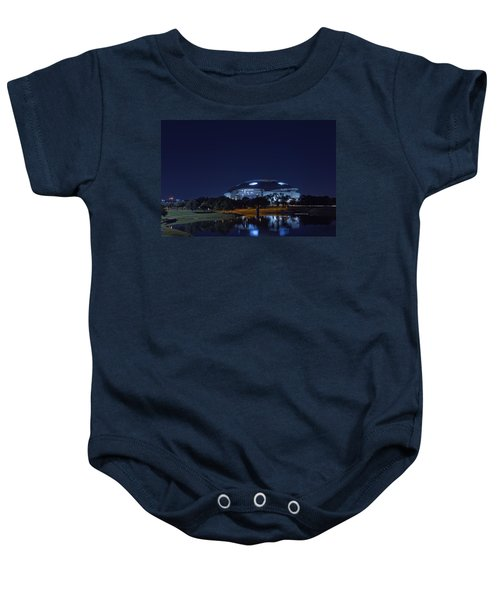 Cowboys Stadium Game Night 1 Baby Onesie