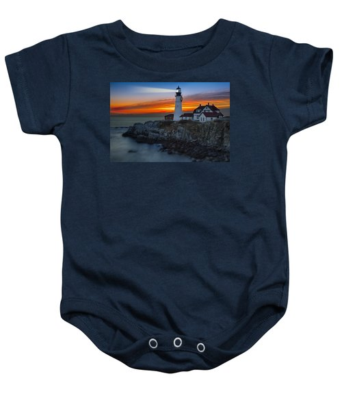 Dawn At Portalnd Head Light Baby Onesie