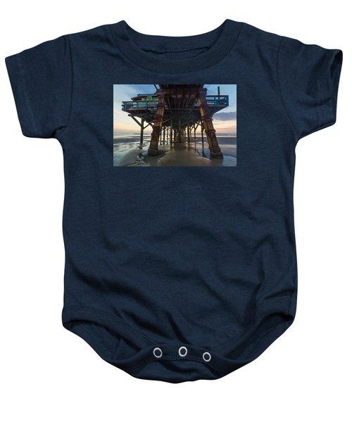 Daytona Beach Shores Pier Baby Onesie