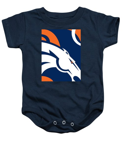 Denver Broncos Football Baby Onesie