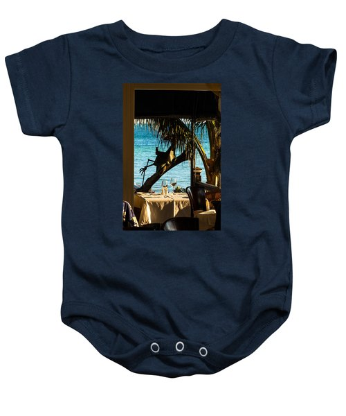 Dining For Two At Louie's Backyard Baby Onesie
