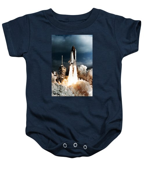 Discovery Hubble Launch Sts-31 Baby Onesie
