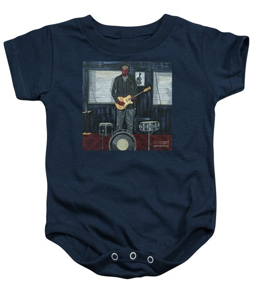 Drums And Wires Baby Onesie by Sandra Marie Adams