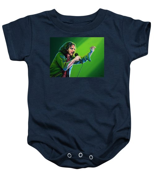 Eddie Vedder Of Pearl Jam Baby Onesie by Paul Meijering