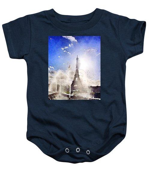Eiffel During Summer Baby Onesie