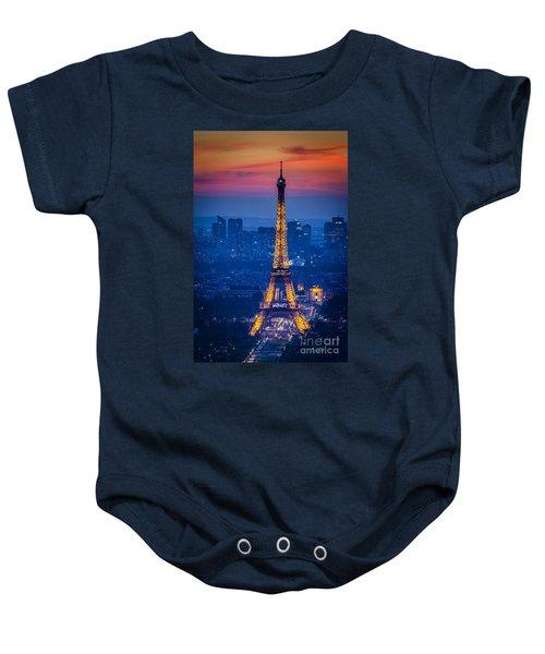 Eiffel Tower At Twilight Baby Onesie