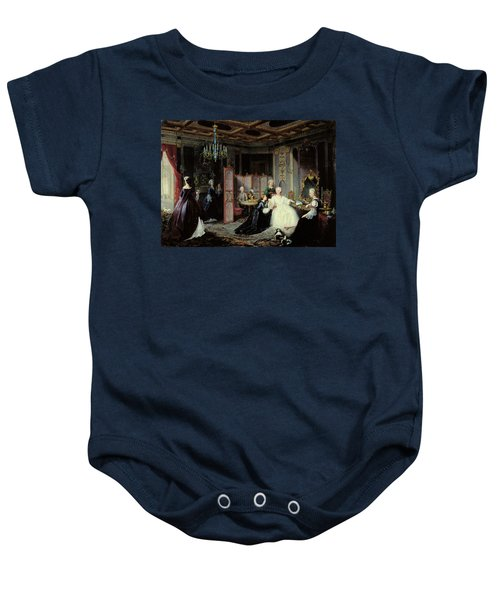 Empress Catherine The Great 1729-96 Receiving A Letter, 1861 Oil On Canvas Baby Onesie