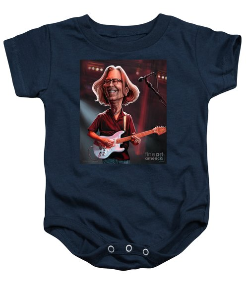 Eric Clapton Baby Onesie by Andre Koekemoer