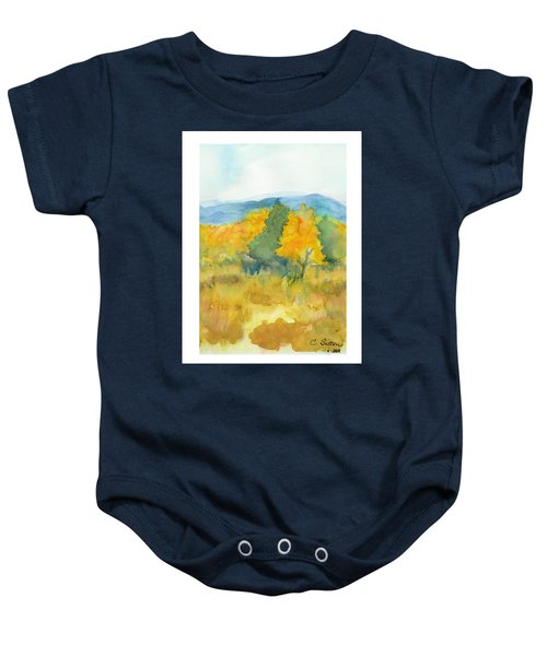 Fall Trees Baby Onesie