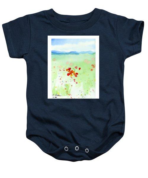 Field Of Flowers 2 Baby Onesie