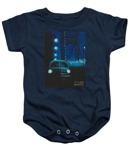 Film Noir In Blue #1 Baby Onesie