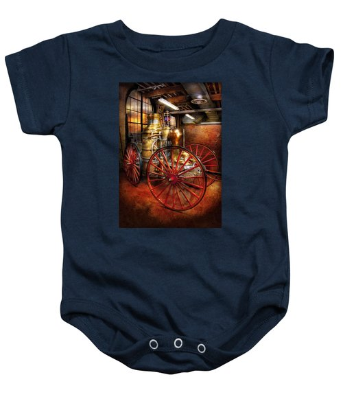 Fireman - One Day A Long Time Ago  Baby Onesie