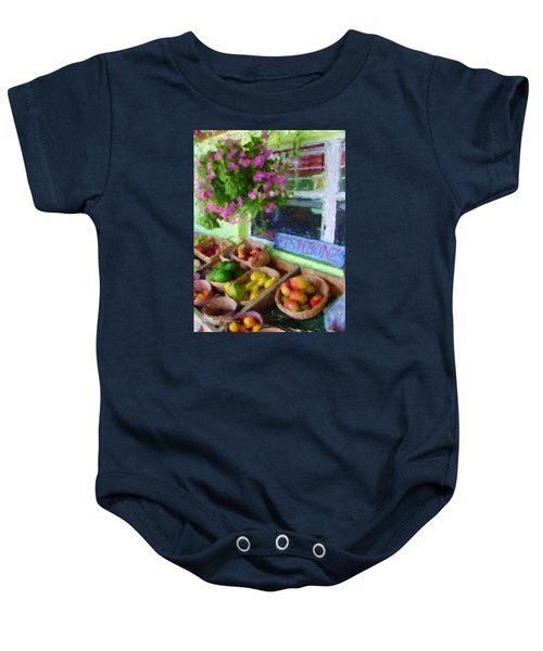 Da111 Fishbonz By Daniel Adams Baby Onesie