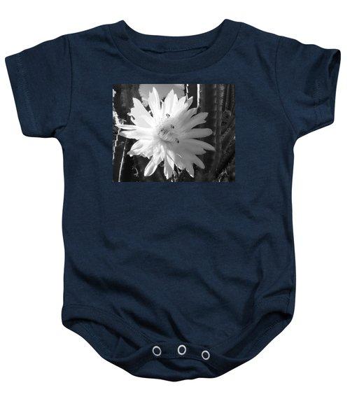 Flowering Cactus 5 Bw Baby Onesie